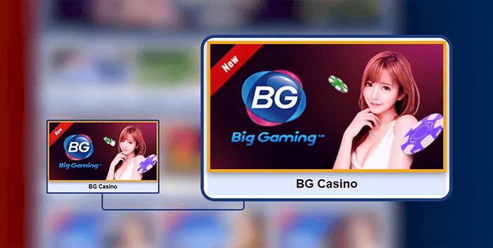 เมื่อเข้าสู่หน้าต่างคาสิโนเกมสด ให้เลือกค่ายคาสิโนที่ท่านต้องการ เช่น BG CASINO